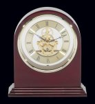 Plymouth Rosewood Piano Finish Desktop Clock Achievement Awards
