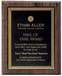 Walnut Hardwood Bevel Edge Plaques Achievement Awards