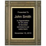 Deep Groove Solid Walnut Plaque Achievement Awards