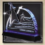 Blue Lasered Star Accent On Base Achievement Awards