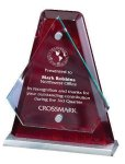 Arrowhead Glass Mounted with Rosewood Back Achievement Awards