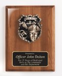 Piano Finish Plaque with Metal Casting Achievement Awards