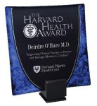 Laserable Glass Tray Blue Achievement Awards