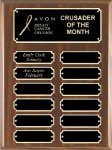 Walnut Finish Perpetual Plaque Achievement Awards