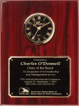 Genuine Rosewood Piano Finish Clock Plaque Achievement Awards