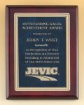Rosewood Piano Finish Plaque with Marble Design Brass Plate Achievement Awards