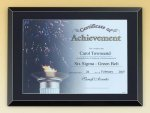 Black Glass Certificate Plaque Achievement Awards