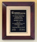Cherry Finish Wood Frame Plaque Achievement Awards