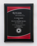 Black Piano Finish Plaque with Red Acrylic Plate Achievement Awards