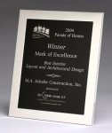 Polished Silver Aluminum Frame Plaque Achievement Awards