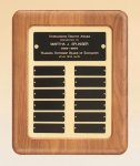 American Walnut Frame Perpetual Plaque Achievement Awards