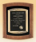 American Walnut Frame Plaque with Antique Bronze Frame Achievement Awards