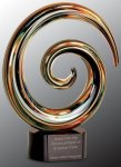 Swirl Art Glass Award Achievement Awards