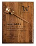 Walnut Gavel Plaque Award Achievement Awards