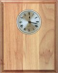 Genuine Red Alder Clock Plaque Achievement Awards