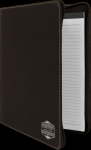 Black/Silver Leatherette Portfolio with Zipper Achievement Awards