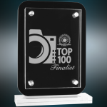 Floating Glass Standup Plaque Achievement Awards