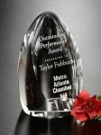 Clipped Oval Crystal Award Achievement Awards