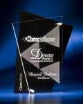 Abstract Clear and Black Acrylic Award Achievement Awards