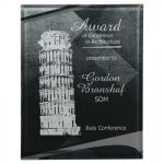 Black/Silver Apex Acrylic Plaque Achievement Awards