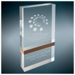 Wood Band Capri Acrylic Achievement Awards
