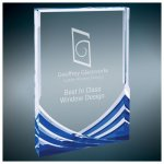 Blue Soaring Rectangle Acrylic Achievement Awards