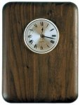 Elliptical Edge Round Corner Genuine Walnut Clock Plaque Achievement Awards