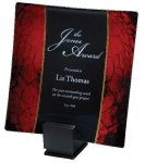 Laserable Glass Tray Red Artistic Awards