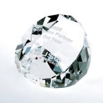 Duet Round Paperweight- Clear Boss Gift Awards
