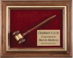 Genuine Walnut Frame Gavel Plaque Boss Gift Awards