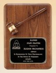 American Walnut Plaque with Walnut Gavel Boss Gift Awards