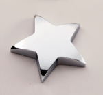 Chrome Star Paper Weight with Felt Bottom. Boss Gift Awards
