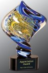 Diamond Twist Art Glass Award Boss Gift Awards