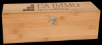 Bamboo Wine Box With Tools Boss Gift Awards