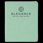 Teal Leatherette Portfolio With Zipper Boss Gift Awards