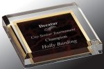 Acrylic Paper Weight Boss Gift Awards