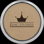 Light Brown Leatherette Coaster with Silver Edge Boss Gift Awards