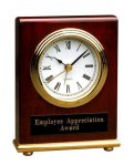 Rosewood Piano Finish Rectangle Desk Clock Boss Gift Awards