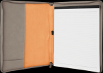 Gray Leatherette  Portfolio with Zipper Boss Gift Awards