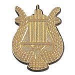 Music Lyre Chenille Pin Chenille Lapel Pins