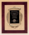 Rosewood Piano Finish Frame Plaque with Cast Relief Employee Awards
