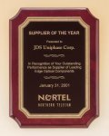Rosewood Piano Finish Plaque with Brass Plate Employee Awards