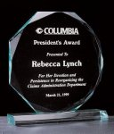Octagon Series 3/4 Thick Acrylic Award Employee Awards
