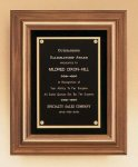 American Walnut Framed Plaque with Gold Trim Employee Awards
