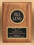 American Walnut Plaque with Routed Disk Area Employee Awards