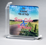 Sublimated Glass Awards Employee Awards