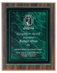 Walnut Finish Plaque Award Employee Awards