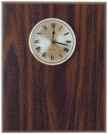 Classic Walnut Finish Clock Plaque Employee Awards
