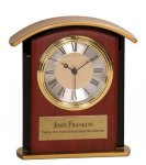 Gold Top Mahogany Finish Clock Employee Awards
