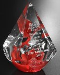Large Quattro Pyramid - Red Employee Awards